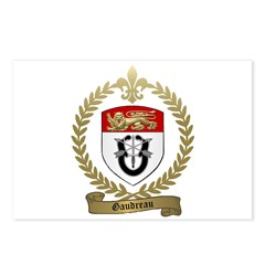 GAUDREAU Family Crest Postcards (Package of 8)