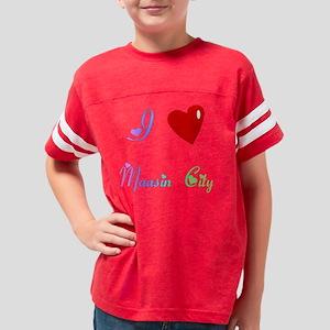 ILOVEMaasinCity2BlackTShirtFr Youth Football Shirt