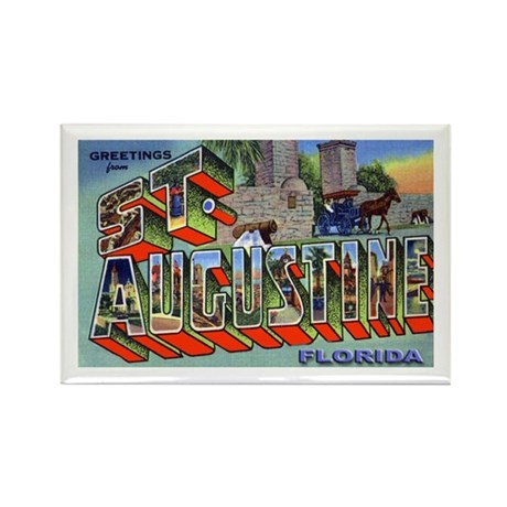 St. Augustine Florida Greetings Rectangle Magnet (