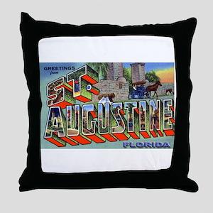 St. Augustine Florida Greetings Throw Pillow