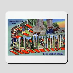 St. Augustine Florida Greetings Mousepad