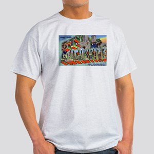 St. Augustine Florida Greetings (Front) Ash Grey T