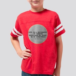 Life Lessons design Youth Football Shirt