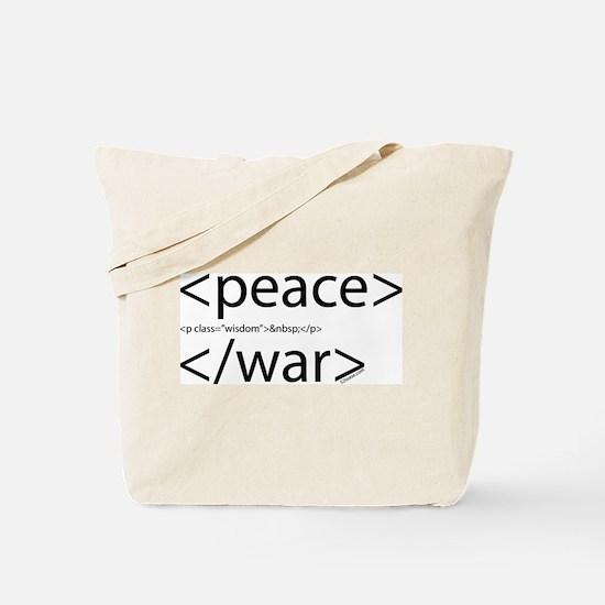 Begin Peace End War HTML Tote Bag
