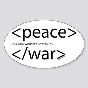 Begin Peace End War HTML Oval Sticker