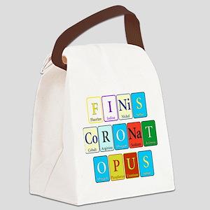 Finis Coronat Opus Canvas Lunch Bag