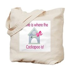 Home is where the Cockapoo is Tote Bag