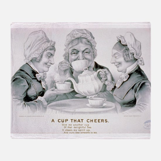 A cup that cheers - 1884 Throw Blanket