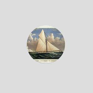 Yacht Puritan of Boston - 1885 Mini Button