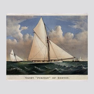Yacht Puritan of Boston - 1885 Throw Blanket