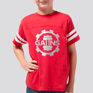 GAIINS Cog Logo White Youth Football Shirt
