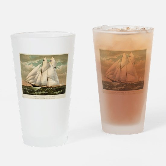 Yacht Norseman of New York - 1882 Drinking Glass