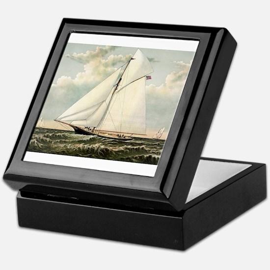 Yacht Gracie of New York - 1882 Keepsake Box