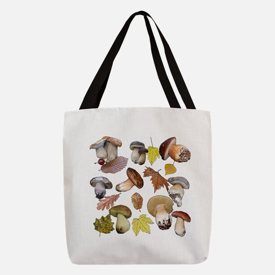 Boletus Polyester Tote Bag