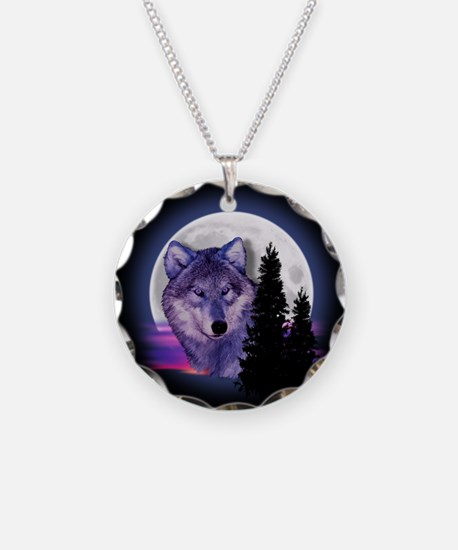 Moon Wolf Necklace