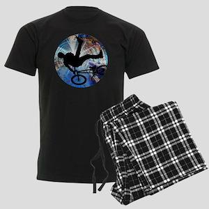 BMX in Grunge Tunnel Men's Dark Pajamas