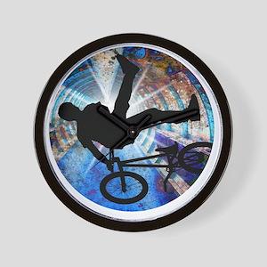 BMX in Grunge Tunnel Wall Clock