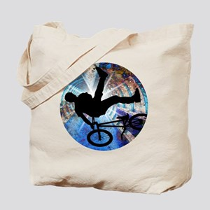 BMX in Grunge Tunnel Tote Bag