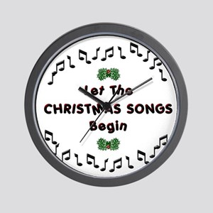 Christmas Songs Wall Clock