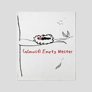 Almost Empty Nester Throw Blanket