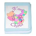 Ji'an China Map baby blanket