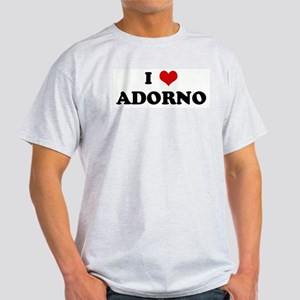 I Love ADORNO Ash Grey T-Shirt