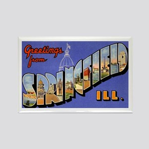 Springfield Illinois Greetings Rectangle Magnet