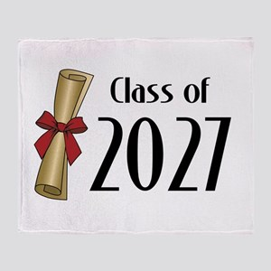 Class of 2027 Diploma Throw Blanket