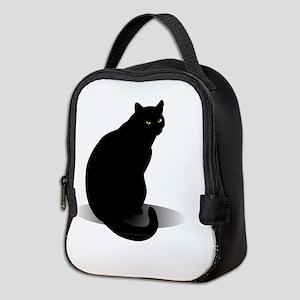 Basic Black Cat Neoprene Lunch Bag