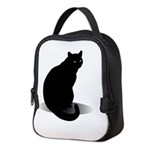 Basic Black Cat Neoprene Lunch Bag