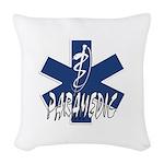 Paramedic Action Woven Throw Pillow