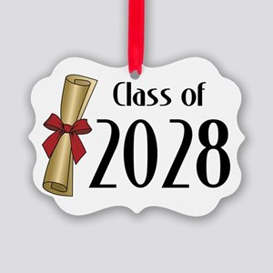 Class of 2028 Diploma Picture Ornament