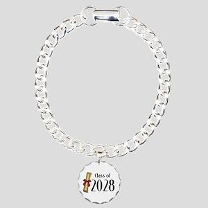 Class of 2028 Diploma Charm Bracelet, One Charm