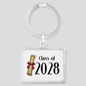 Class of 2028 Diploma Landscape Keychain