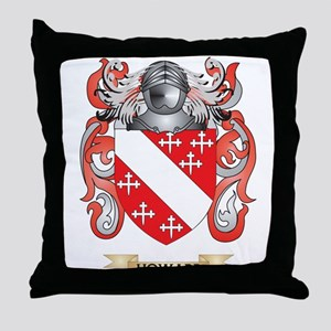 Howard Coat of Arms (Family Crest) Throw Pillow