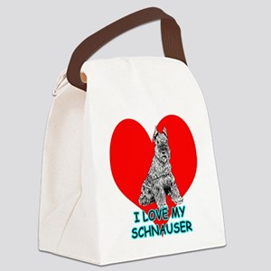 I Love My Schnauser Canvas Lunch Bag