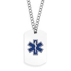 EMS EMT Rescue Logo Dog Tags