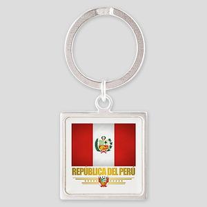 Flag of Peru Keychains