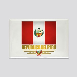 Flag of Peru Rectangle Magnet