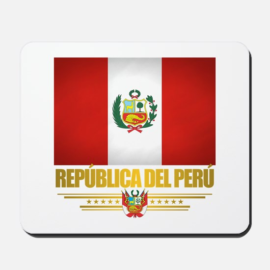 Flag of Peru Mousepad