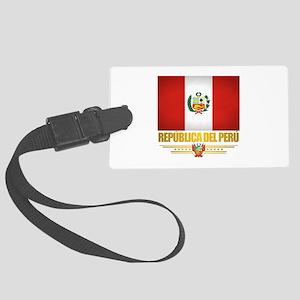 Flag of Peru Luggage Tag