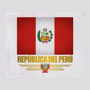 Flag of Peru Throw Blanket