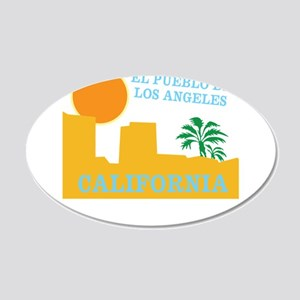 Los Angeles Mexico 20x12 Oval Wall Decal