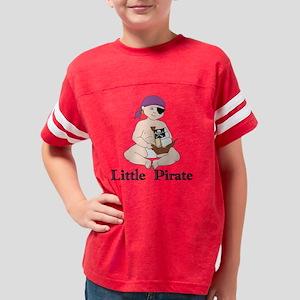 Little Pirate Girl Youth Football Shirt