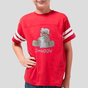 snugglyblackBEAR Youth Football Shirt