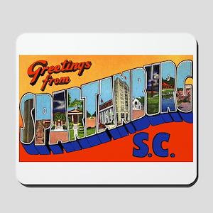 Spartanburg South Carolina Greetings Mousepad