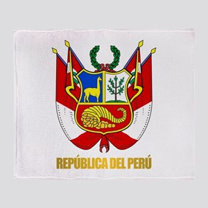 Peru COA Throw Blanket