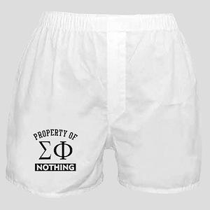Sigma Phi Nothing Boxer Shorts