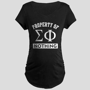Sigma Phi Nothing Maternity T-Shirt