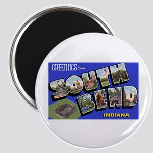 South Bend Indiana Greetings Magnet